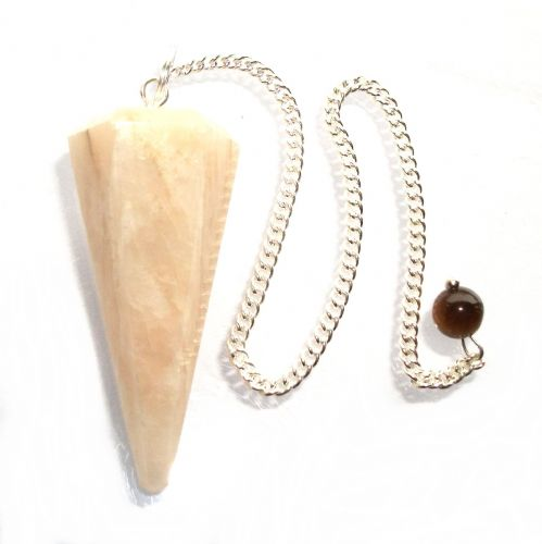 Creamy Moonstone Dowsing Pendulum Crystal Point